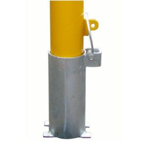 90MM STEEL REMOVABLE INGROUND ROUND BOLLARD