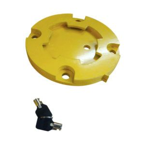 90MM STEEL SURFACE MOUNTED BOLLARD BASE PLATE
