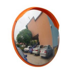 500MM STAINLESS STEEL OUTDOOR CONVEX SAFETY MIRROR